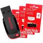 Pen Drive Sandisk Cruzer 4 Gb Original Pendrive 4gb Barato