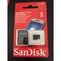 Cartão De Memória Micro Sd 4gb + Adaptador Sd - Sandisk