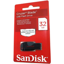 Pen Drive Sandisk 32gb Cruzer Blade 100% Original + Brinde