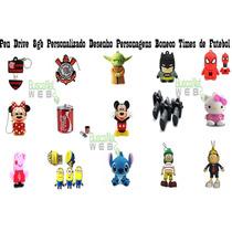 Pen Drive 8gb Personalizado Heróis Times Personagens Câmeras