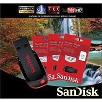 Pen Drive Sandisk 16 Gb Cruzer Blade 100% Original O Melhor!
