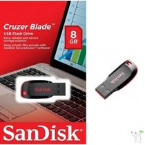 Pen Drive Sandisk 8 Gb Cruzer Blade Lacrado Original