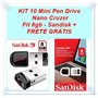 Kit 10 Mini Pen Drive Nano Cruzer Fit 8gb - Sandisk