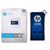 Pen Drive Hp Original Azul 32gb - Flash Drive Usb 2.0
