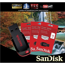 Pen Drive Sandisk Cruzer Blade 16 Gb 100% Original Embalagem
