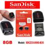 Pen Drive 8gb Cruzer Fit Sandisk Usb 2.0 Original - Lacrado