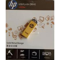 Micro Pendrive Hp 16gb V225w Ouro Frete Barato
