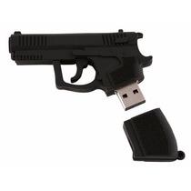 Pendrive 8 Gb Personalizado Modelo Arma Pistola Revolver