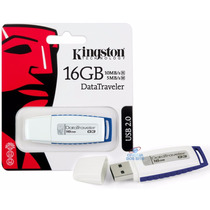 Pen Drive Kingston 16gb Gen 3 - Branco/azul - 100% Original