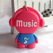 Pen Drive Personalizado Boneco Music 8gb Diferente Fofo