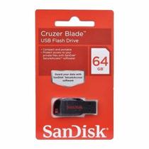 Pen Drive Sandisk 64gb 100% Original Lacrado