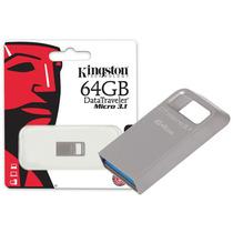 Pen Drive Usb 3.0 Kingston Dtmc3/64gb Datatraveler Micro 3.