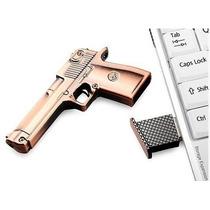 Pen Drive 8gb Pistola - Arma - Metal - Frete Grátis.