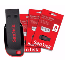 Pen Drive Sandisk 8 Gb Cruzer Blade 100% Original Lacrado