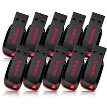 Pendrive 8g Sandisk 100% Original Atacado Lote 10 Unidade