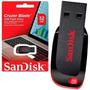Pen Drive Sandisk 32gb Cruzer Blade Lacrado