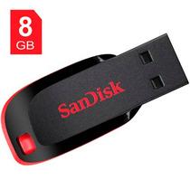 Pen Drive Sandisk Cruzer Blade 8gb - Original - Frete Grátis