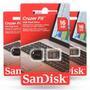 Pen Drive 16gb Cruzer Fit - Sandisk Nano Lacrado Original