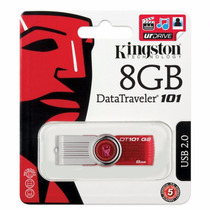 Pen Drive 8gb Kingston Dt101 G2 Original