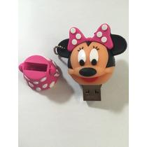 Pendrive 4 Gb Usb Minnie Mouse Disney Rosa Pronta Entrega