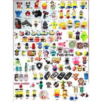 Kit 10 Pendrive Personalizado 8gb Times Heróis Personagens