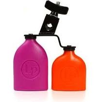 Lp Duble Sambago Bells Mountable- Laranja E Roxo Agogo Duplo