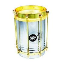 Cuica Reta 8 X30cm Aco C/aro Dourado-pele Animal -timbra