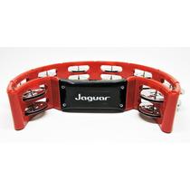 Pandeirola Pandeiro Meia Lua Jaguar Percussão Vermelho