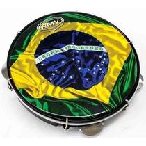Pandeiro Rmv Pele Fibra Brasil Holografica Pagode Ppa0214
