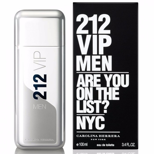 Perfume 212 Vip Men Masculino 100ml Carolina Herrera