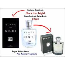 Perfume Importado Black Fragrância Bvlgari Inspirado 50ml