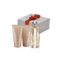 Kit Presente Perfume Essencial Feminino Natura - 3 Pcs + Emb
