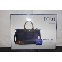 Polo Blue Masculino Eau De Toilette 125ml +travel Bag