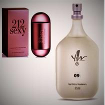 Perfume Deo Colônia 09 Inspiração 212 Sexy Yes! Feminino.