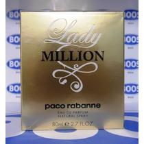 Perfume Lady Million 80ml Edp Paco Rabanne Original Lacrado