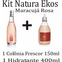 Kit Natura Ekos Maracujá Rosa Colônia + Hidratante