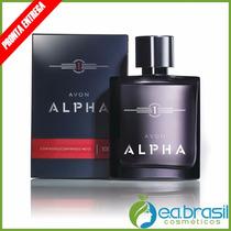 Colônia Masculina Alpha 100ml - Avon, Promoção Aqui + Brinde