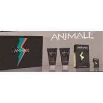 Kit Animale Masc. 100ml + Miniatura + Gel Banho + Pôs Barba