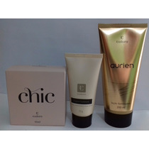 Kit Perfume Chic+loção Iluminadora + Creme Para As Mãos