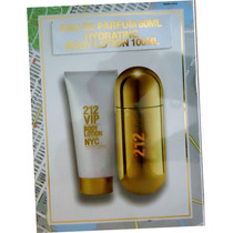 Kit Carolina Herrera 212 Vip Fem Edp 80 Ml+body Lotion 100ml