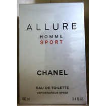 Allure Homme Sport Chanel Edt 100 Ml Masc - Original Lacrado