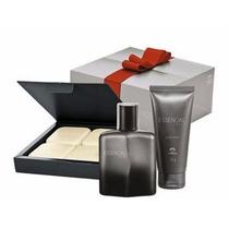 Kit Presente Perfume Essencial Estilo Masculino Natura 3 Pcs