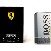 Kit Hugo Boss + Ferrari Black Fragancia Original F. Gratis