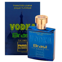 Perfume Masculino Paris Elysees Vodka Brasil Blue 100 Ml