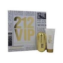 Perfume 212 Vip Carolina Herrera Kit Perfume + Body Lotion
