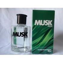 Colonia Musk Fresh Masculina Avon 90 Ml Frete + Barato