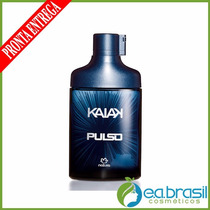 Colônia Masculina Kaiak Pulso 100ml, Natura + Brinde + Frete