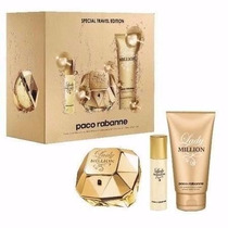 Kit Lady Million 1 Perfume 80 Ml +15 Ml+ 1 Body Lotion100 Ml