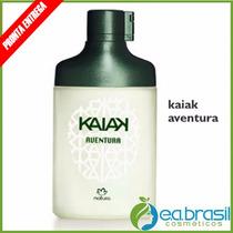 Colônia Masculina Kaiak Aventura 100ml, Natura + Brinde !
