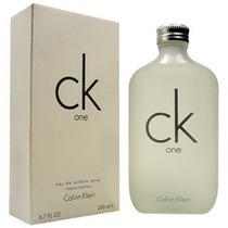 Perfume Ck One Unissex 200ml Calvin Klein 100% Original